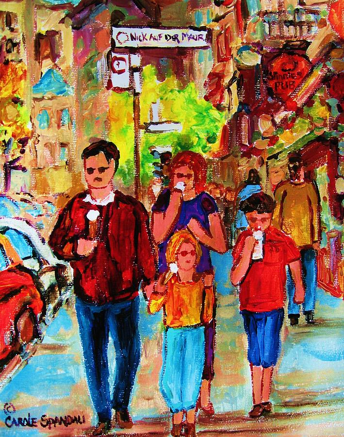 Crescent Street Painting - Summer In The City by Carole Spandau
