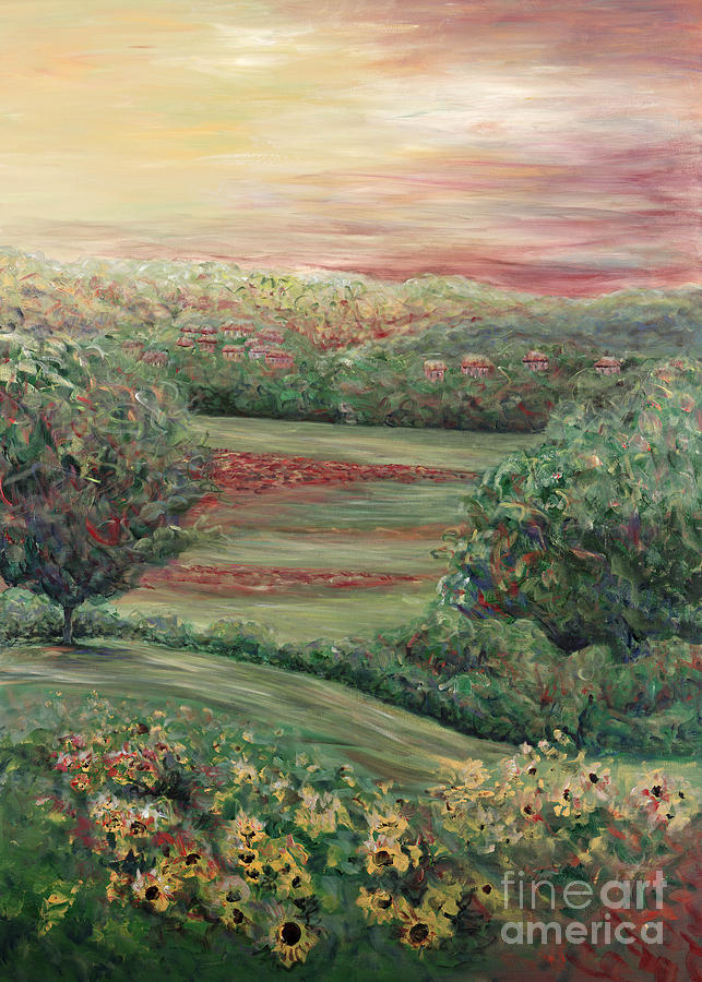 Landscape Painting - Summer In Tuscany by Nadine Rippelmeyer