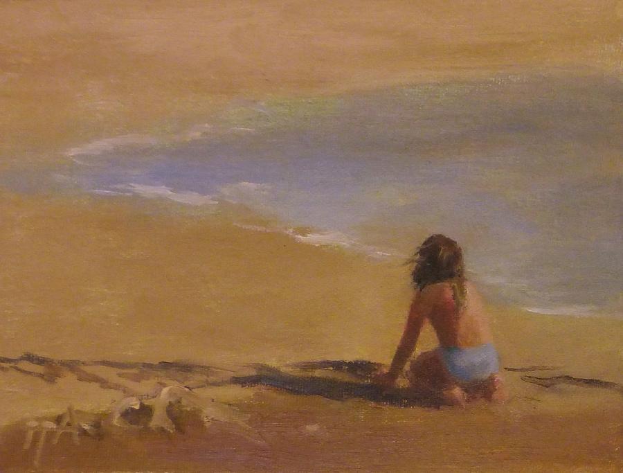 Girl Painting - Summer Interest II by Irena Jablonski