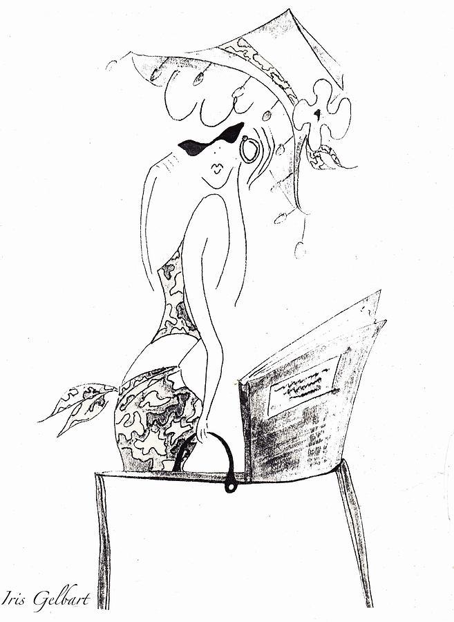 Drawing Drawing - Summer by Iris Gelbart