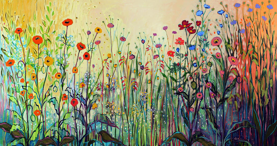 Floral Painting - Summer Joy by Jennifer Lommers