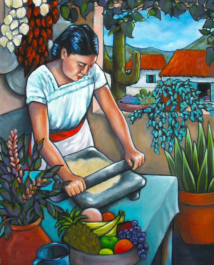 Latin Kitchen Painting - Summer Kitchen by Lorraine Klotz