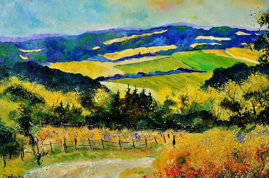 Landscape Painting - Summer Landscape by Pol Ledent