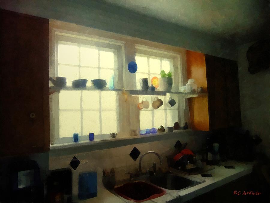 Kitchen Painting - Summer Light In The Kitchen by RC deWinter