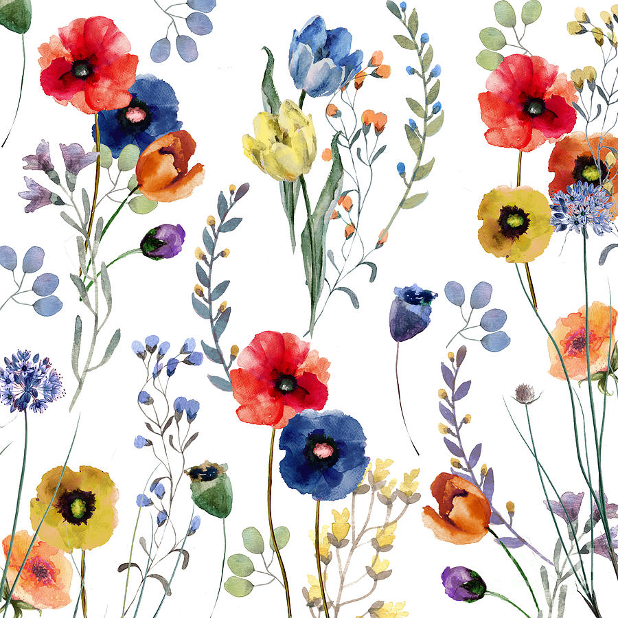 Flowers Painting - Summer Linen by Mindy Sommers