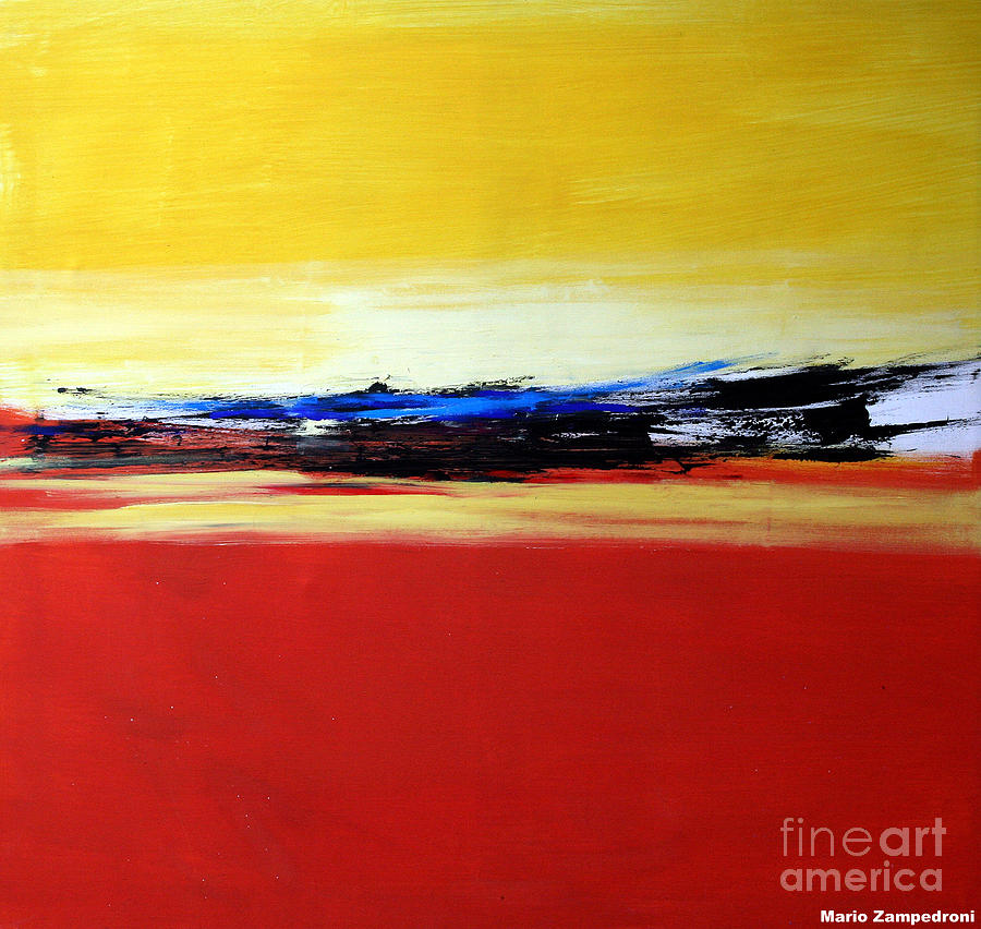 Abstract Painting - Summer by Mario Zampedroni