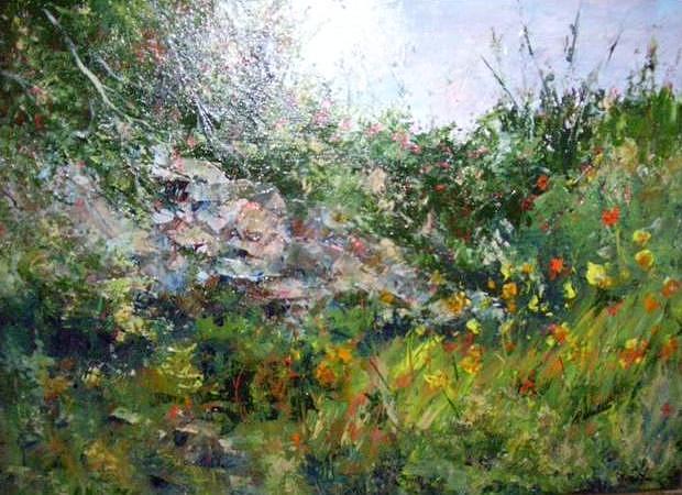 Acrylic Painting - Summer Meadows by Barbara Walter