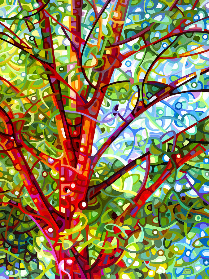 Contemporary Painting - Summer Medley by Mandy Budan