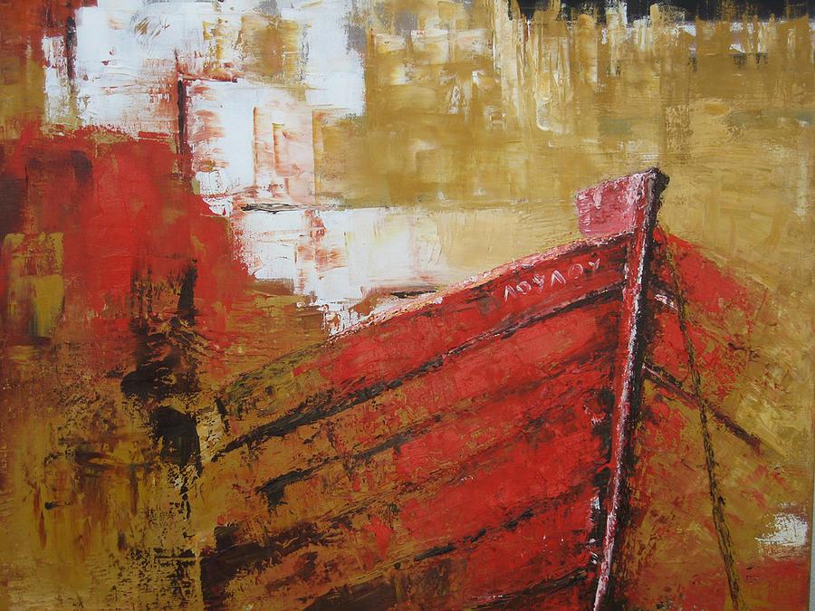 Boats Painting - summer Memories by Marina Harris