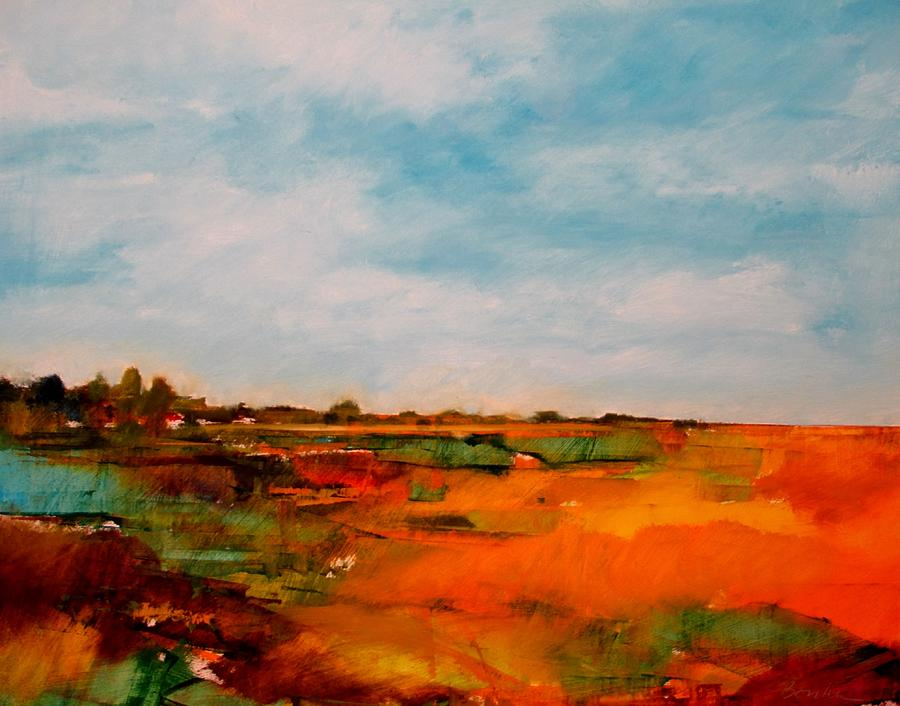 Nebraska Plains Painting - Summer Midday by Dan  Boylan