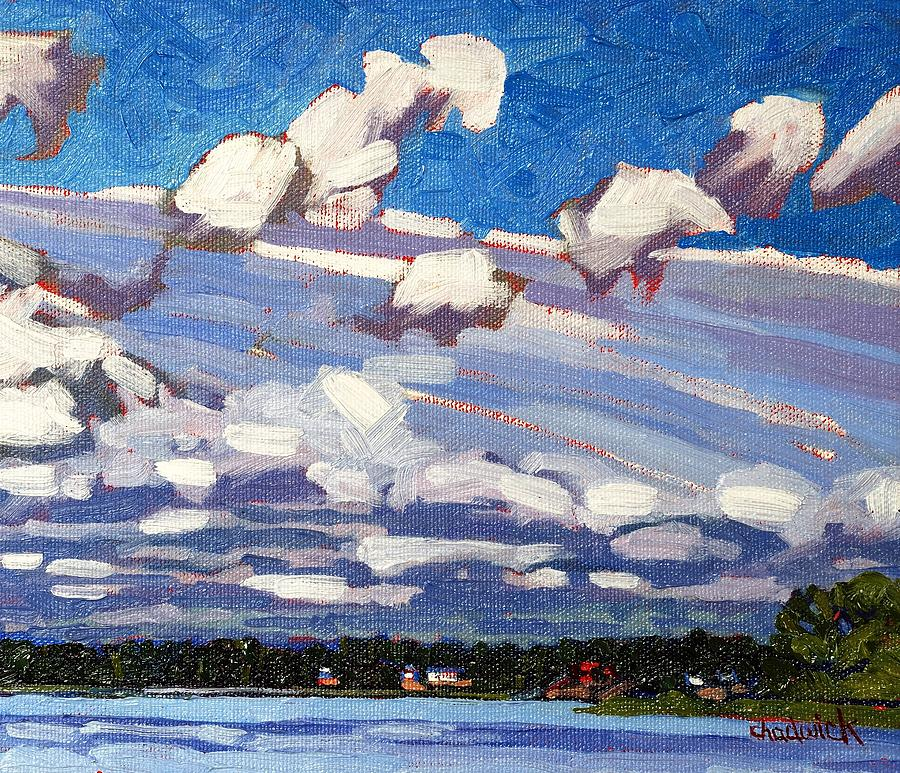 Cumulus Painting - Summer Morning by Phil Chadwick