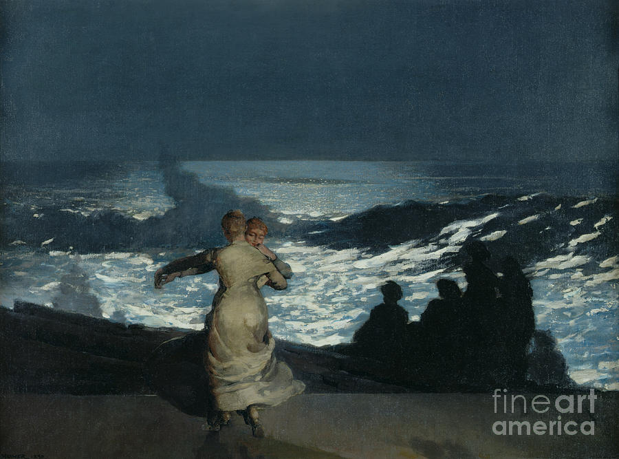 Winslow Homer Painting - Summer Night by Winslow Homer