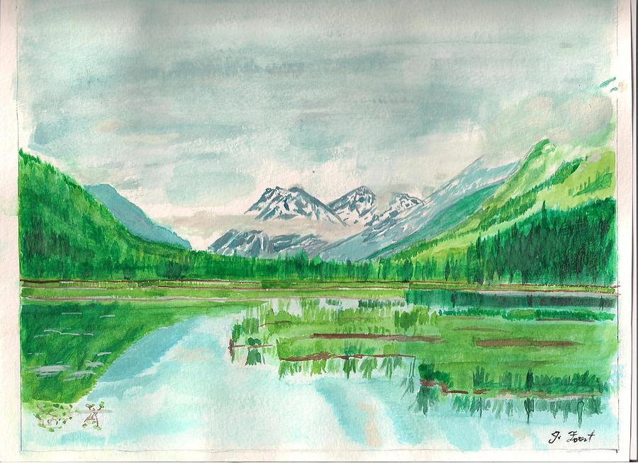 Summer Of Alaska Painting by Jashobeam Forest