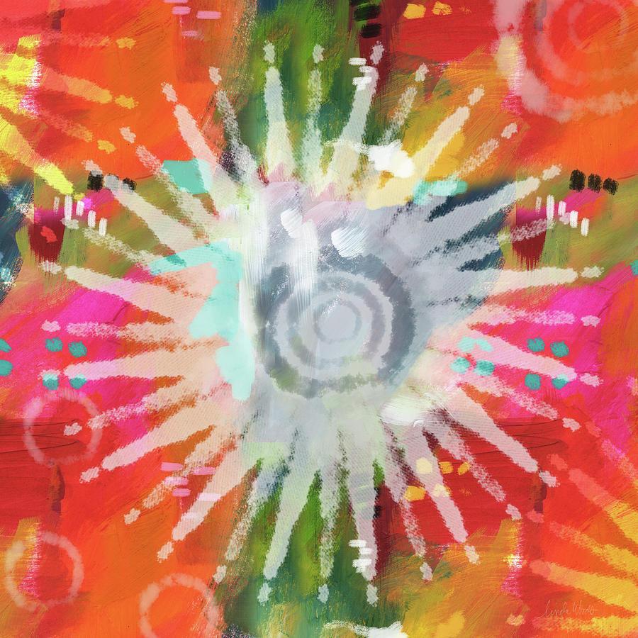 Groovy Mixed Media - Summer Of Love- Art By Linda Woods by Linda Woods