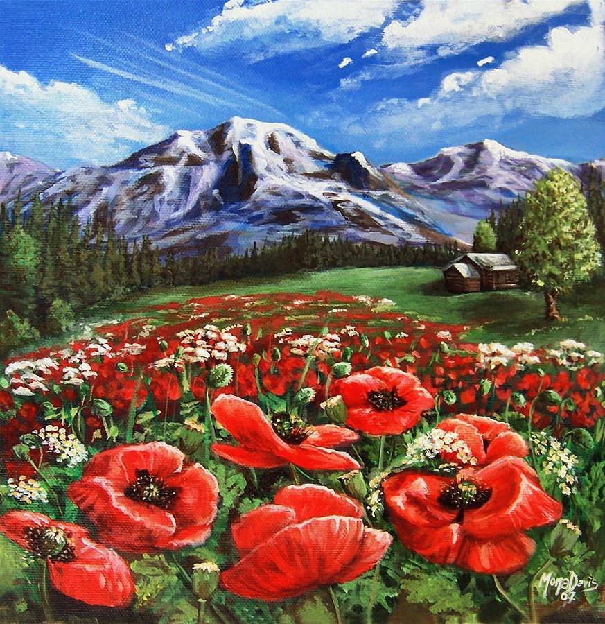 Mountain Painting - Summer On The Mountain by Mona Davis