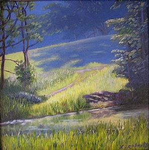 Landscape Painting - Summer Pastoral by Laura Roberts