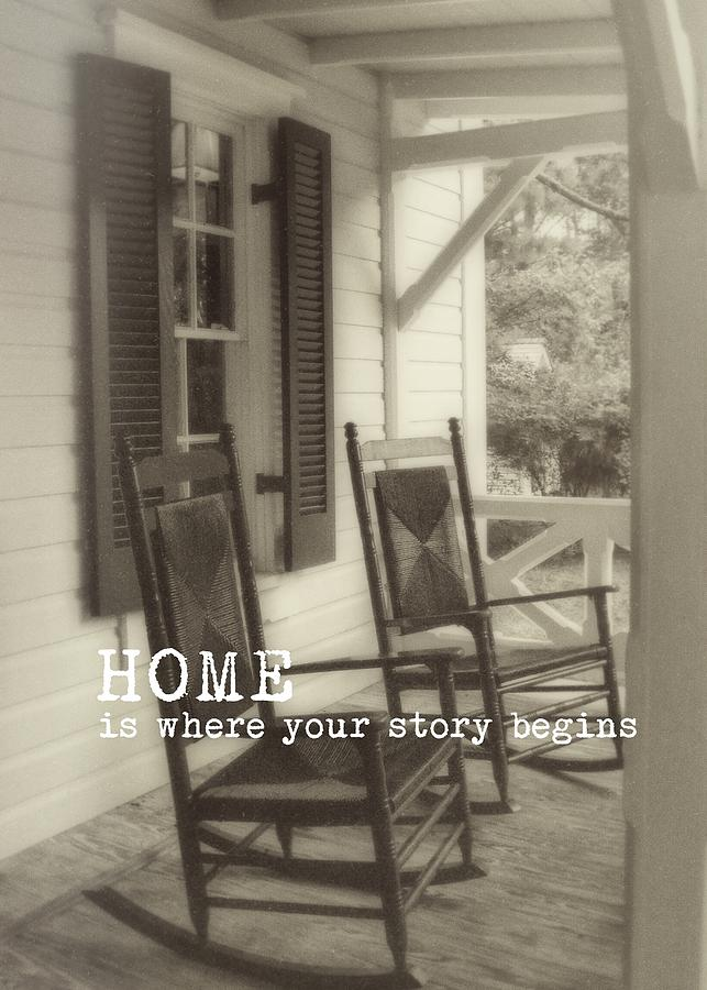 Porch Photograph - Summer Peace Quote by JAMART Photography