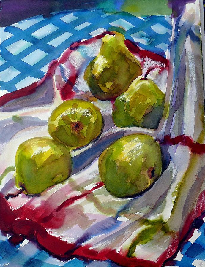 Still Life Painting - Summer Pears by Doranne Alden