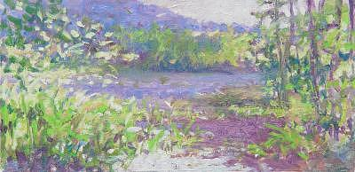 Blue Mountains Painting - Summer Pond by Susan Nicholas Gephart