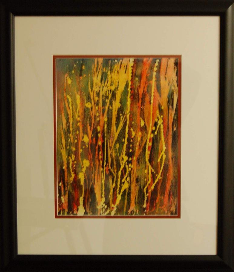 Abstract Painting - Summer Rain On My Window Pain by Henny Dagenais