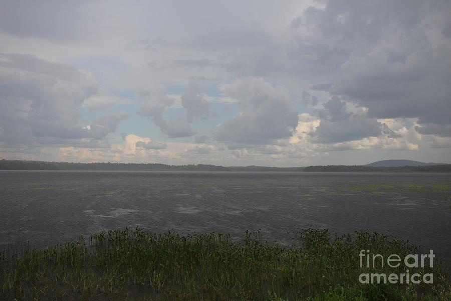 Summer Rain Photograph - Summer Rain On Plymouth Pond Maine by Colleen Snow