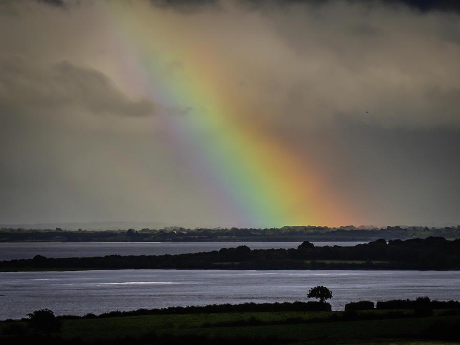 Ireland Photograph - Summer Rainbow Over Shannon Estuary by James Truett
