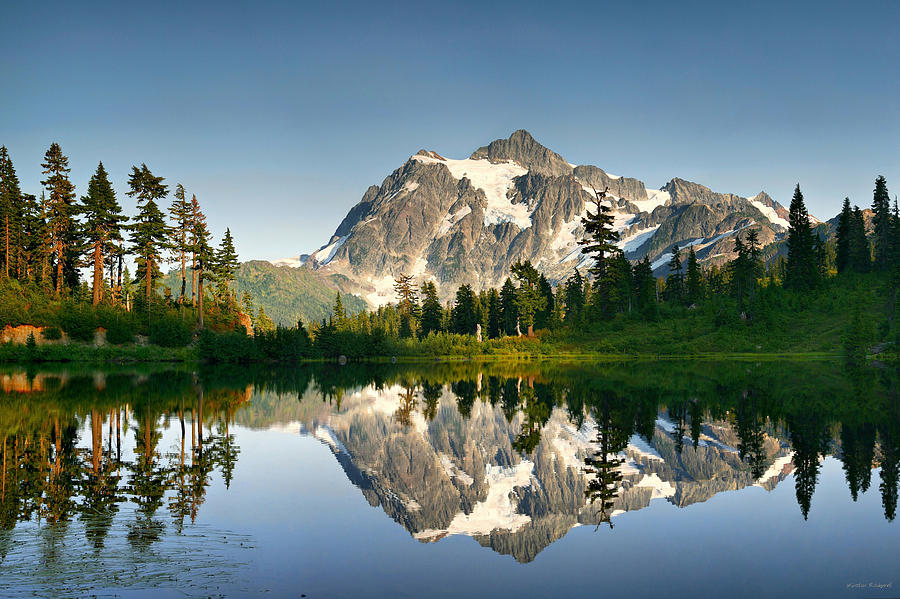 Mountain Photograph - Summer Reflection by Winston Rockwell