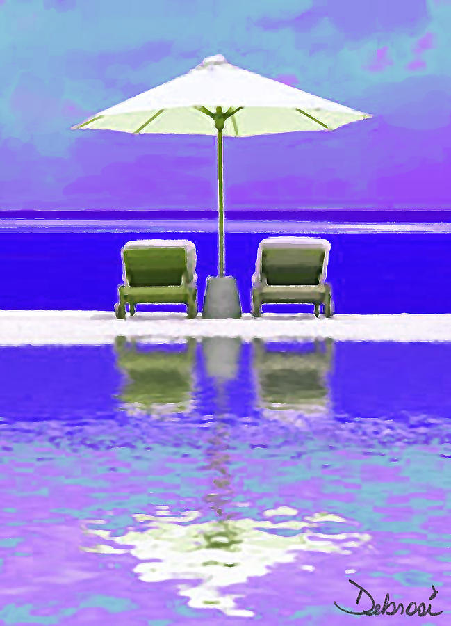 Ocean Painting - Summer Reflections by Deborah Rosier