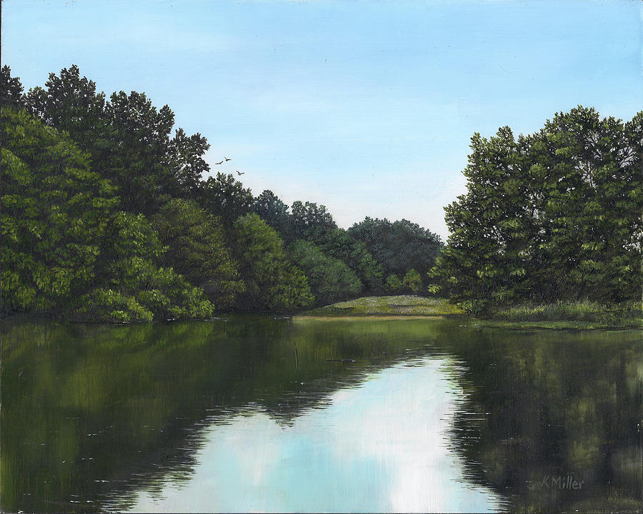 Reflections Painting - Summer Reflections by Kathie Miller