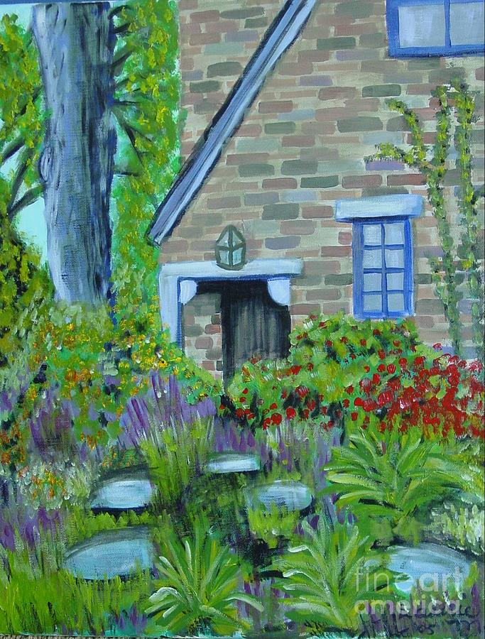 Cottage Painting - Summer Retreat by Laurie Morgan