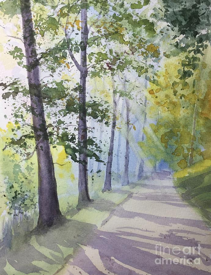 Summer Road Painting by Yohana Knobloch
