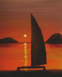 Summer Sailing Painting by William Boyer
