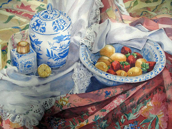 Still Life Painting - Summer Savored by Carole Poole
