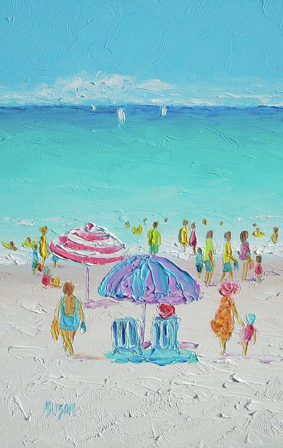Summer Scene diptych 1 by Jan Matson