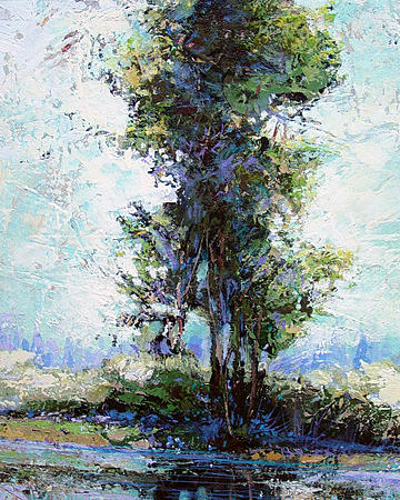Summer Shade Painting by Dale  Witherow