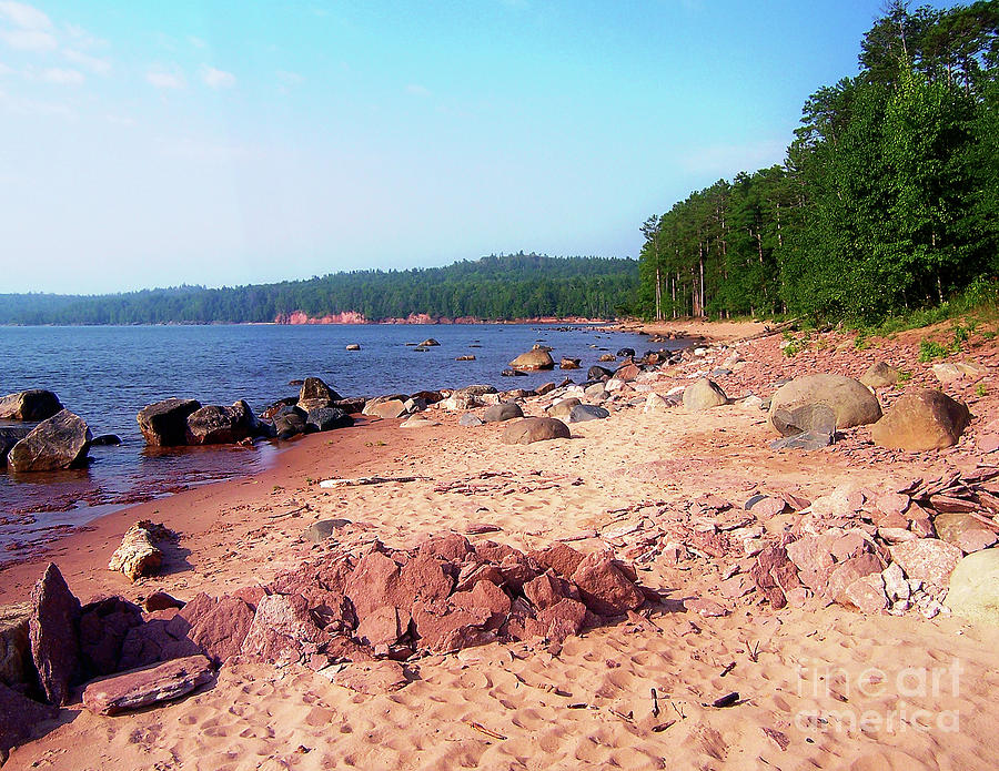 Lake Superior Digital Art - Summer Shores Of Lake Superior by Phil Perkins