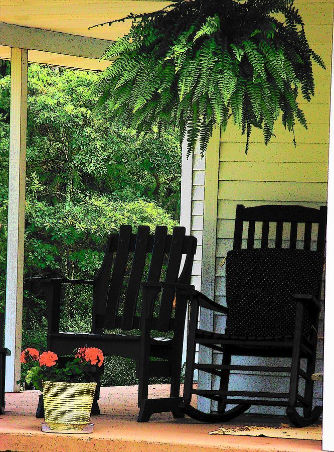 Rocking Chairs Photograph - Summer Sitting by Joyce Kimble Smith