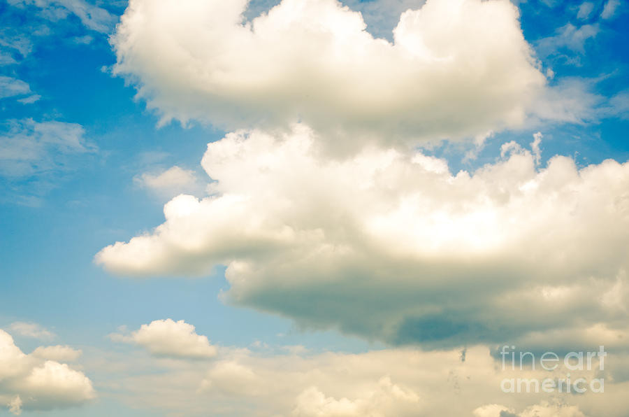 Blue Photograph - Summer Sky Blue Sky White Clouds by Andy Smy