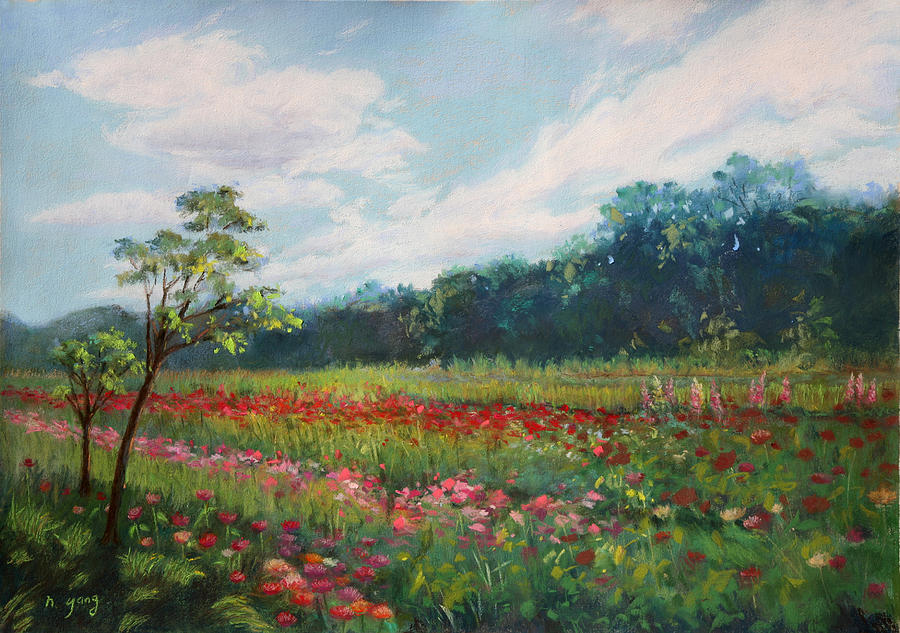 Landscape Pastel - Summer Solstice by Nancy Yang