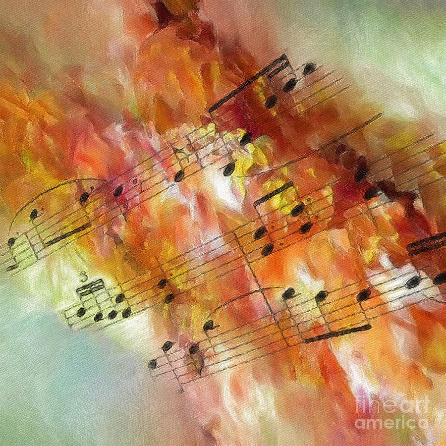 Music Digital Art - Summer Sonata Sq by Lon Chaffin