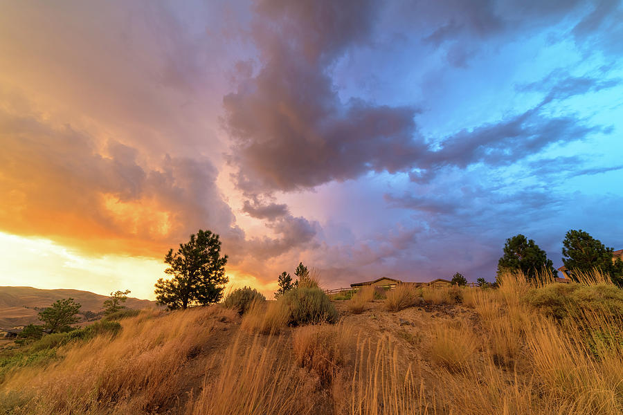 Summer Spectrum In The Sky Above Suburban Homes In The High Desert Of Northwest Reno Photograph