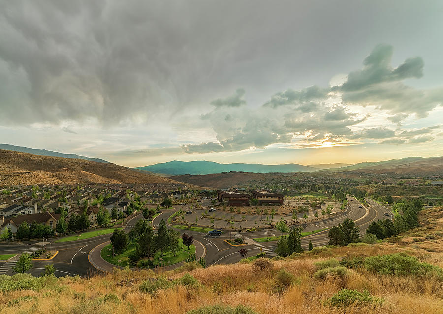 Summer Storm Brewing At Sunset Over Somersett In The High Desert Of Northwest Reno, Nv Photograph