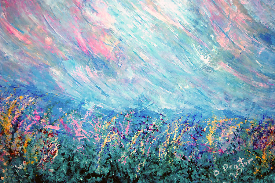 Summer Painting - Summer Storm by Donna Proctor