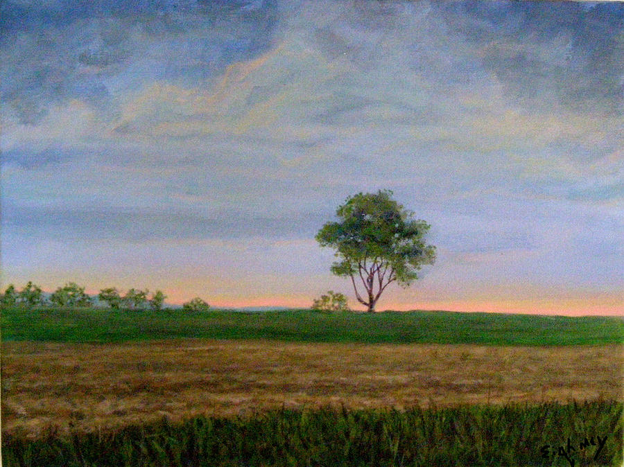 Landscape Painting - Summer Storm by Evelynn Eighmey
