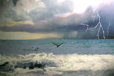 Seascape Digital Art - Summer Storm  by Richard Nickson