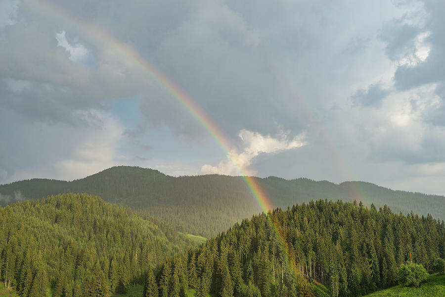 Summer Storms and Rainbows - Rhodope Mountain Range in Bulgaria by Georgia Mizuleva