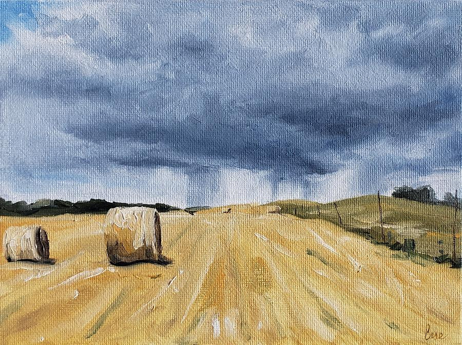 Storm Clouds Painting - Summer Storms by Katrina Case