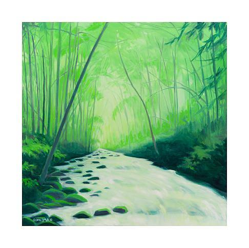 Summer Painting - Summer Stream by Rebecca Gottesman