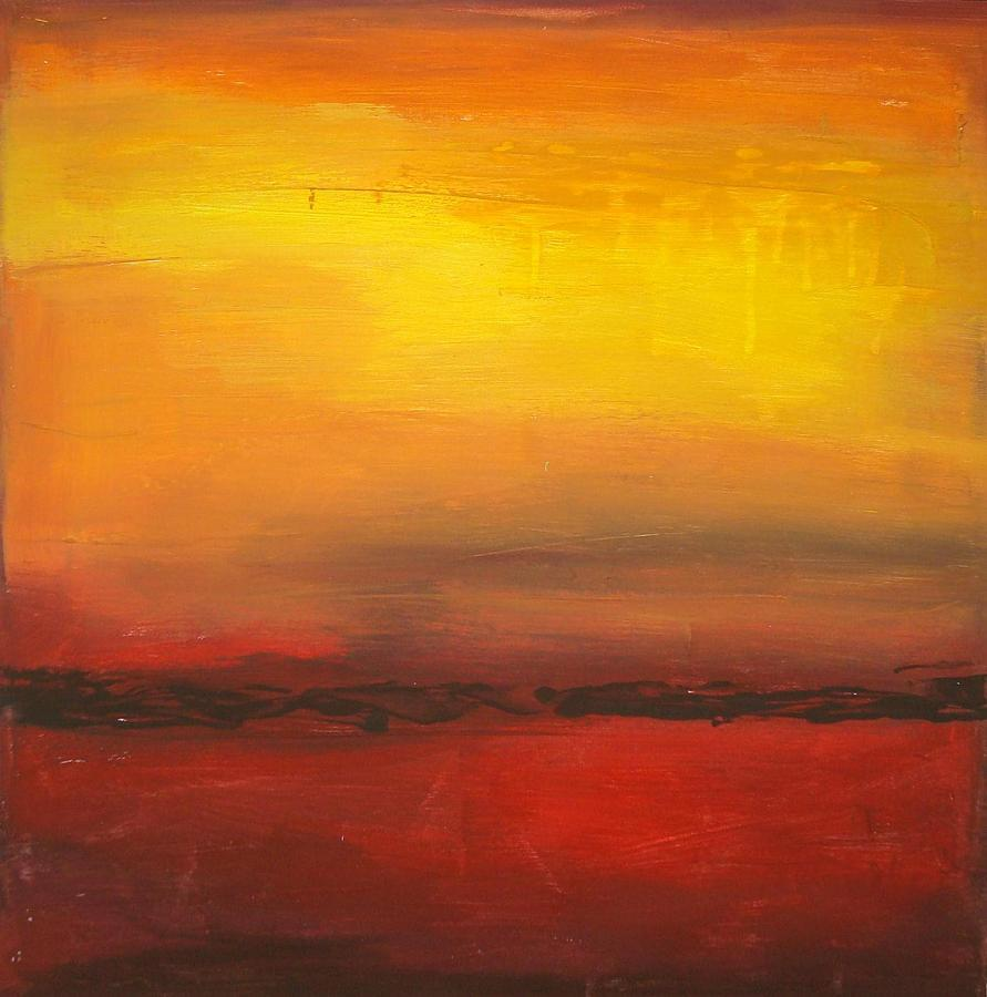 Contemporary Painting - Summer Sun by Ora Birenbaum
