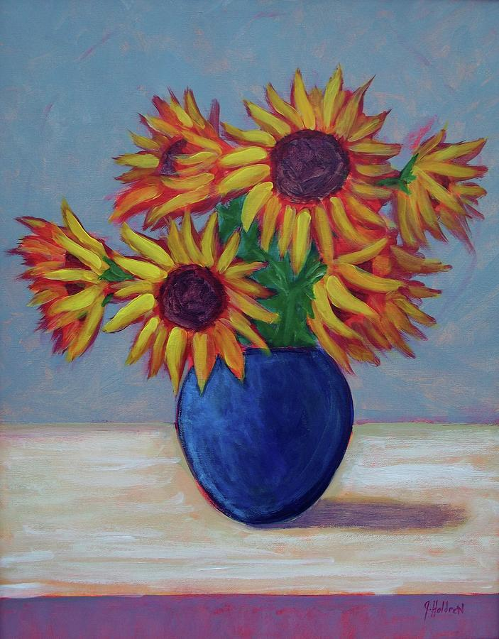 Flowers Painting - Summer Sunflowers by Justin Holdren